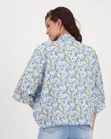 Angel Ditsy Printed Kimono -  milk