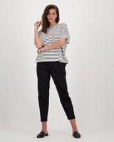 Jess Poplin Pants -  black
