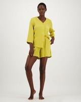 Stephanie Short Sleepwear Set -  ochre