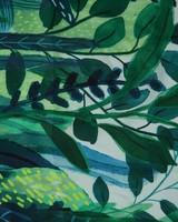 Tracy Tropical Printed Polysilk Scarf -  darkgreen