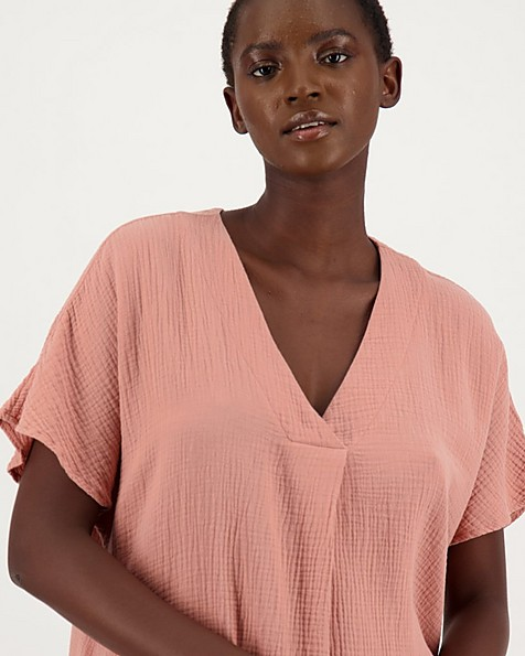 Emmy Lou Loungewear Dress -  apricot