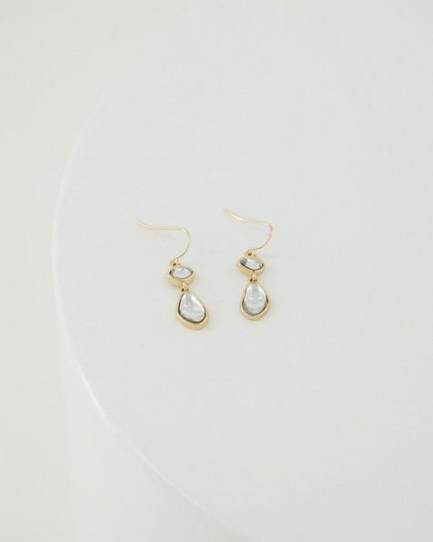 Irregular Teardrop Earrings -  camo