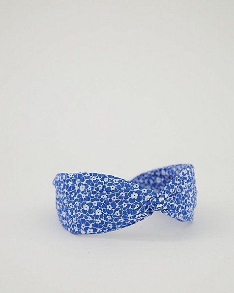 Hasna Ditsy Knotted Aliceband -  blue