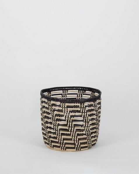 Mahuni Black & Natural Basket -  bone