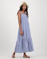 Kiva Stripe Dress -  navy