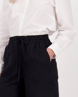 Annie Linen Short -  darkcharcoal