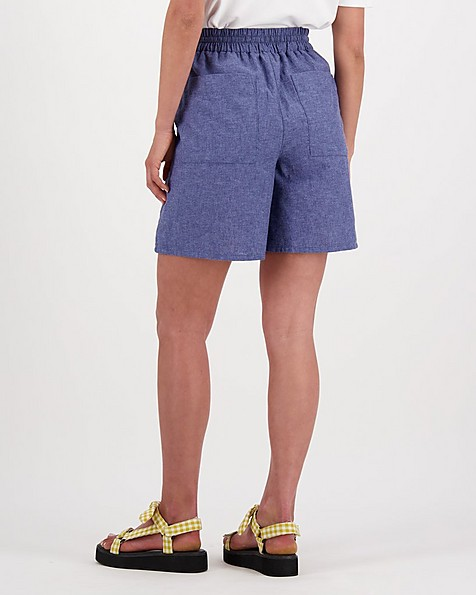 Annie Linen Short -  indigo