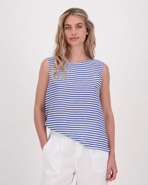 Sheila Stripe Top -  navy