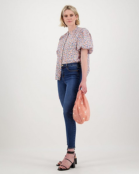 Vic Floral Blouse -  pink