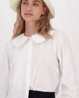 Jane Collar Blouse -  white