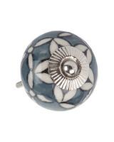 Starflower Doorknob -  grey-white
