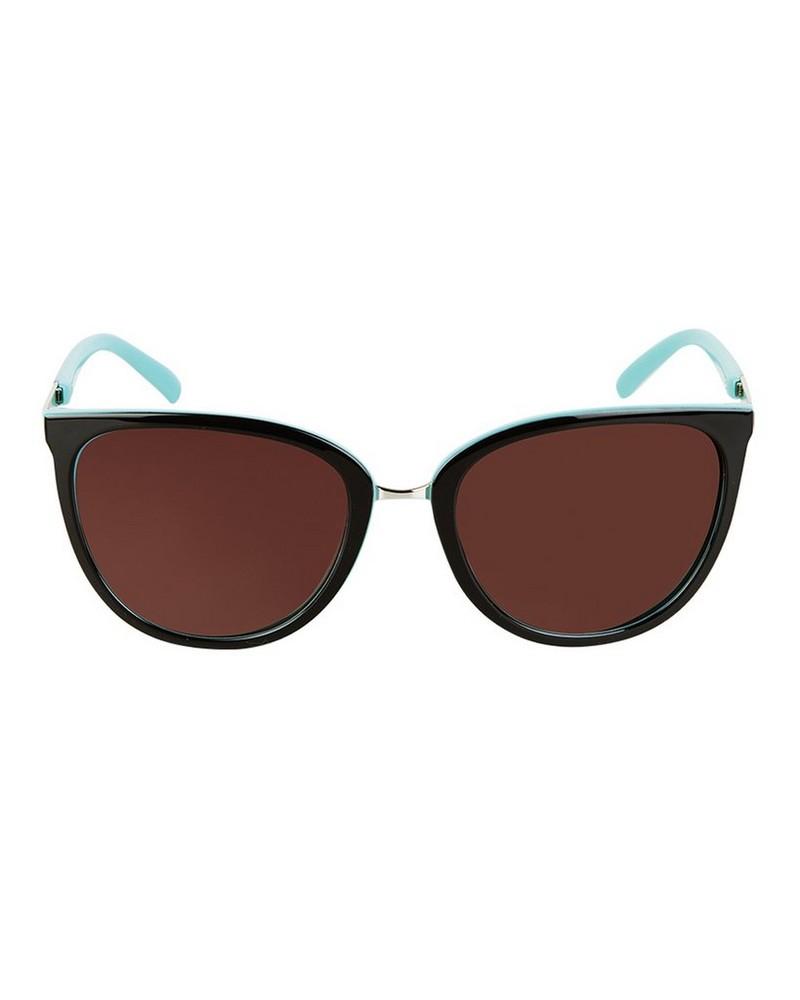 Poetry Polarised Catseye Sunglasses -  brown-lightblue