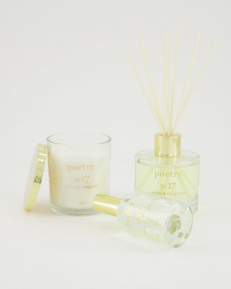 Orchid and frangipani Diffuser -  white-assorted