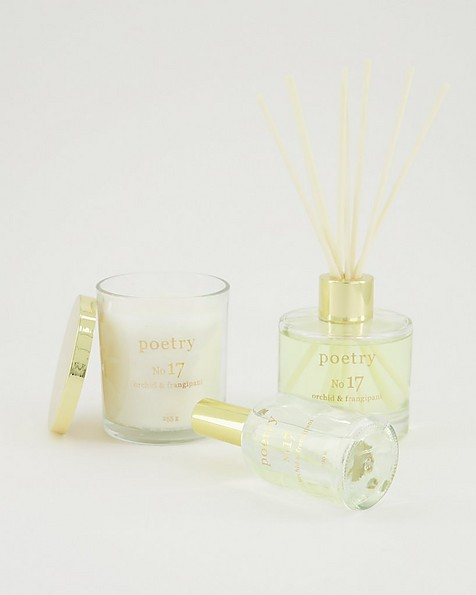 Orchid and Frangipani Candle -  white-assorted