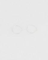 Silver Hoop Earrings -  silver-silver