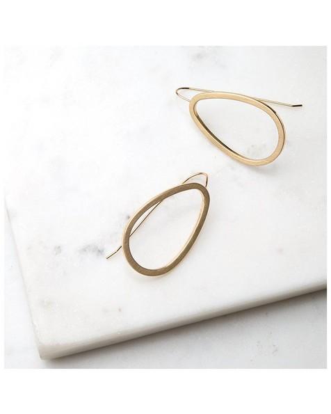 Geo Drop Earrings -  gold-gold
