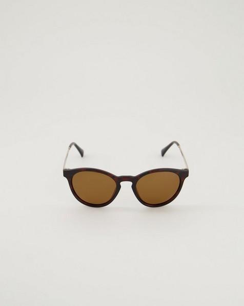 Polarised Contemporary Round Sunglasses -  brown-yellow