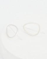Geo Drop Earrings -  silver-silver