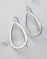 Geo Drop Earrings -  silver