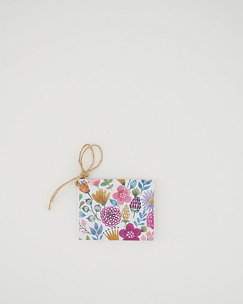 Growing Paper Multi Pinks Tag -  assorted