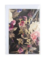 Poppy Floral Thank You Card -  assorted
