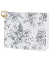 Monochromatic Floral Tag -  assorted
