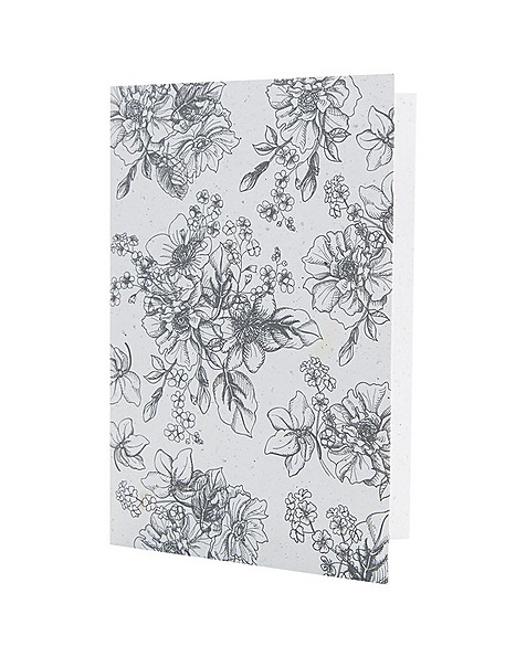 Monochromatic Floral  Card -  assorted