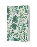 Green Leaves Card -  green-white