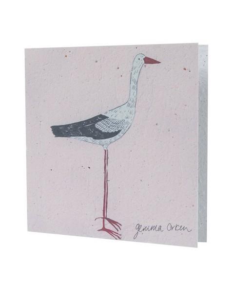 Gemma Orkin Pink Bird Card -  assorted