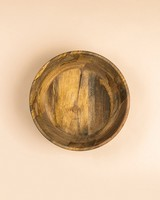 Large Acacia Wood Bowl  -  brown