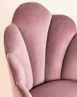 Soft Pink Velvet Peacock Chair -  pink