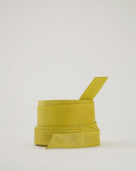 Tammy Waist Tie Belt -  yellow