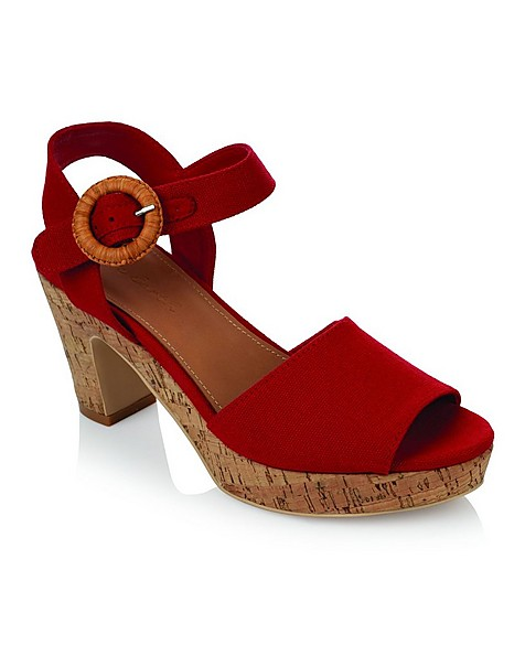 Rare Earth Natalie Sandal (Ladies) -  red