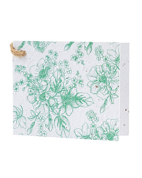 Greens Foilage Growing Paper Tag -  green-white