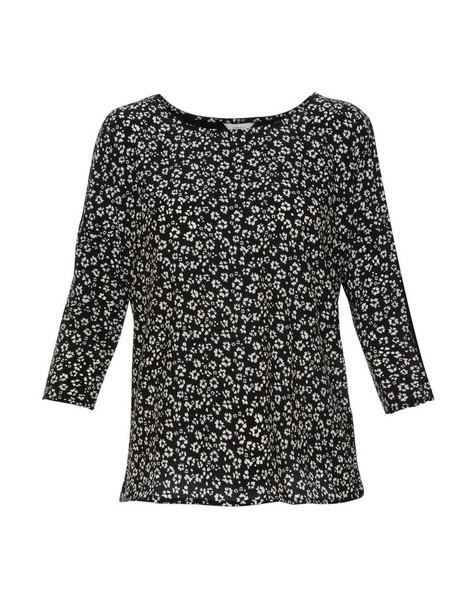 Alesha Geo Print T-Shirt -  black