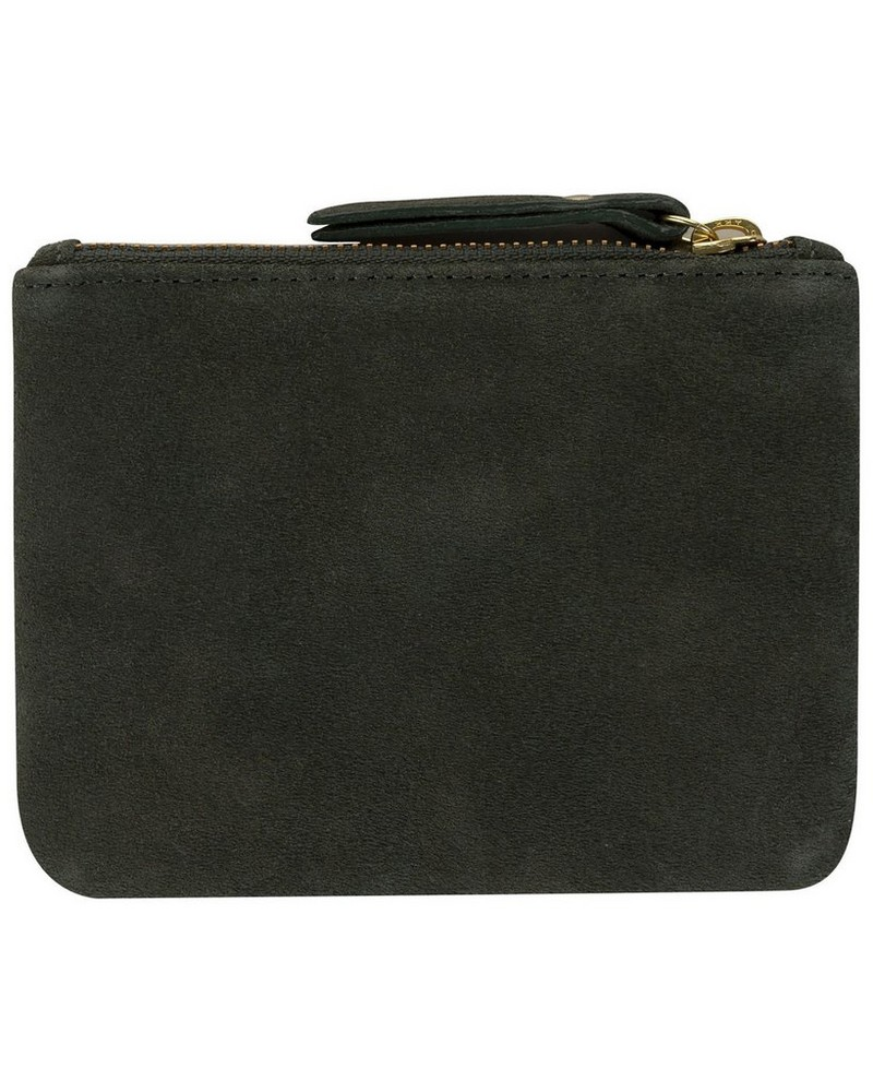 Moira Small Suede Pouch -  green