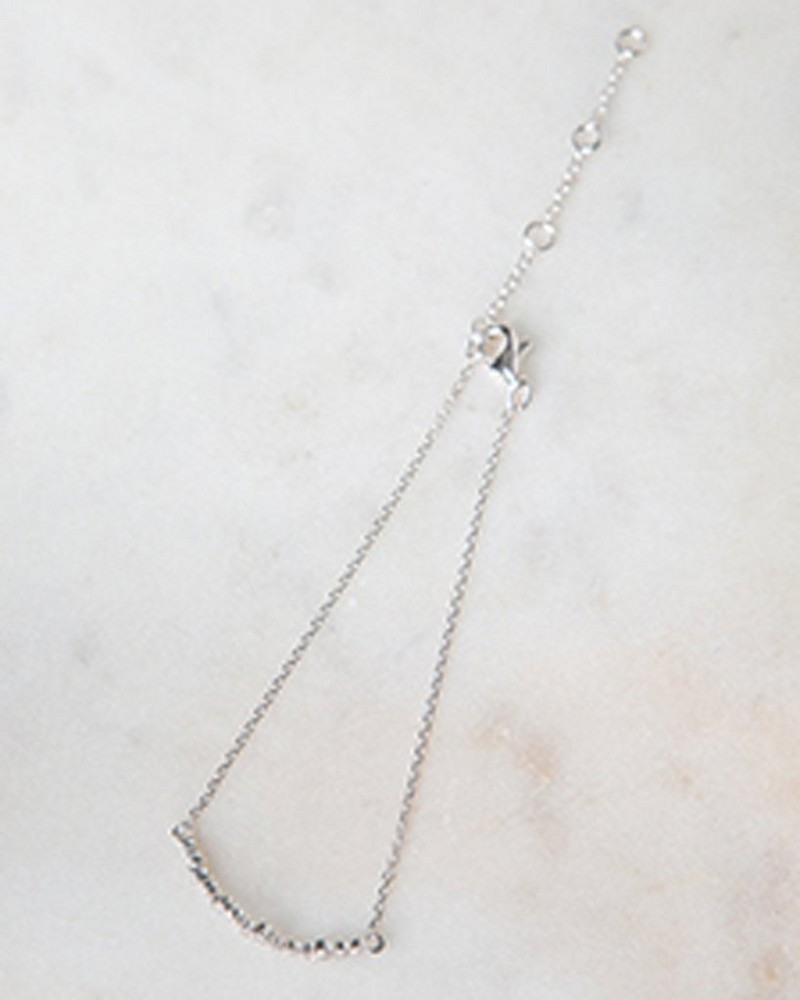 Cubic Zirconia & Sterling Silver Bracelet -  silver