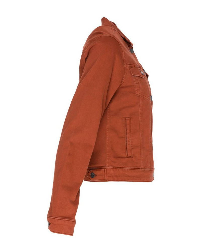 Shazzy Denim Jacket -  rust