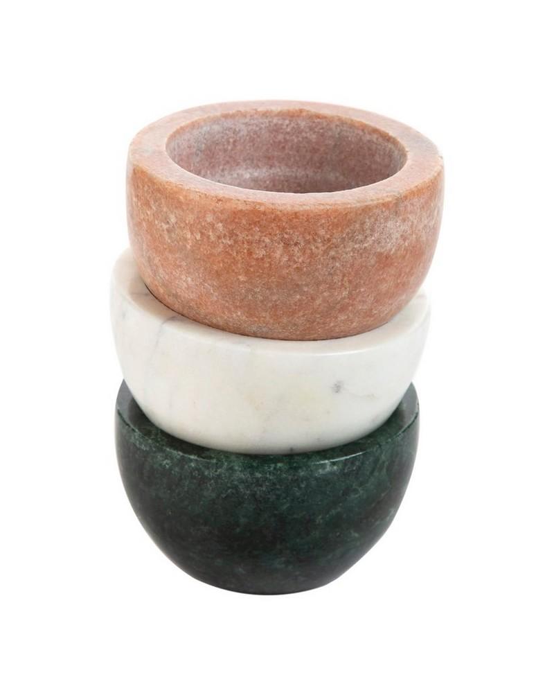 Pink Marble Tapas Bowl -  palepink