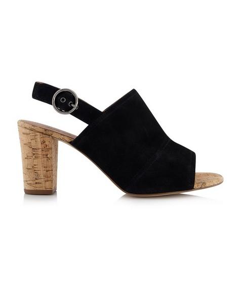 Rare Earth Makayla Block Heel Sandal -  black