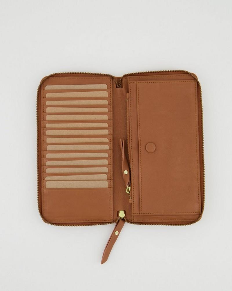 Heidi Leather Wallet -  tan