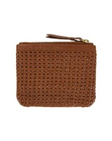 Moira Plaited Leather Pouch -  tan