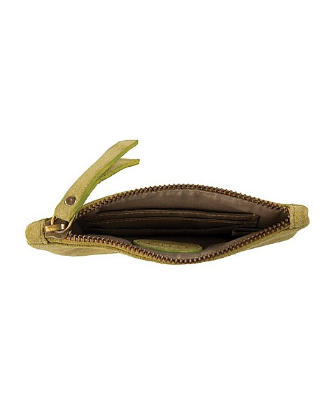 Moira Suede Pouch -  green