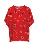 Melody Floral Blouse -  red
