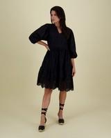 Riva Schiffly Dress -  black