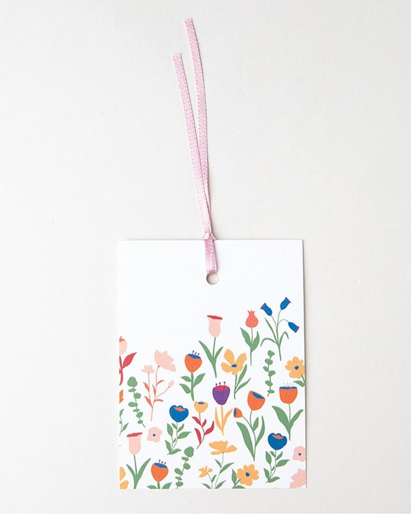 Love Letters White Floral Mom Tag -  assorted