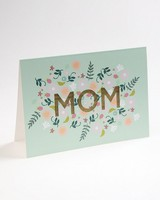 Love Letters Blue Floral Mom Card -  assorted