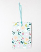 Love Letters Blue Floral Mom Tag -  assorted