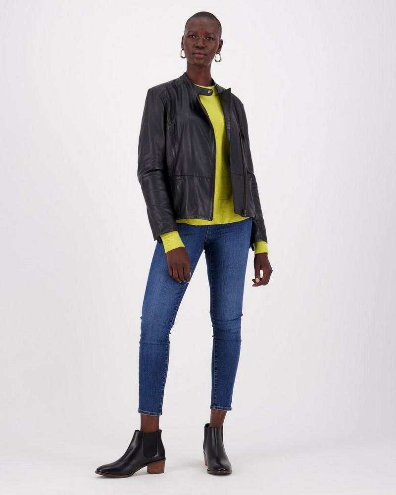 Jenay Leather Jacket -  black