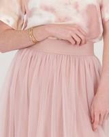 Odelia Mesh Skirt -  pink